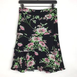 Cabi 480 Floral Tiered A-line Skirt